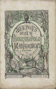 Original Title Page of Mrs Beeton's Book