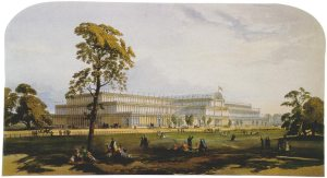 The Crystal Palace, Hyde Park, London 1851 (image Wikimedia Commons)