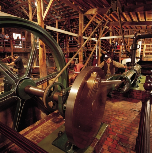 One of the working steam engines at Sovereign Hill.