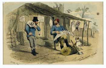 Butchers Shambles, by S. T. Gill. Ballarat Gold Museum Collection 86_628