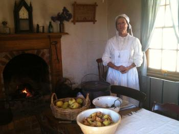 Sovereign Hill Volunteer Jenni Fithall, who will be living in one of our cottages for 3 days in March 2013