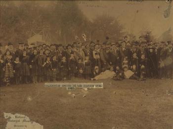 Caledonian sports, Eastern oval Ballarat, 1895