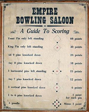Nine pin scoring
