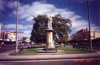 Statue of Robert Burns, Scottish poet. Sturt St Ballarat
