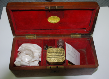 Cupping Kit, from Dr. David O'Sullivan Collection. Gold Museum Ballarat.