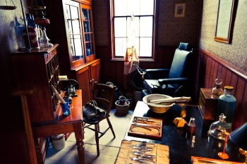Dr. Wakefield's room at Sovereign Hill.