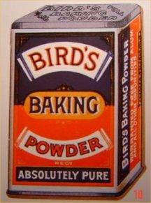 Tin of Birds Baking powder