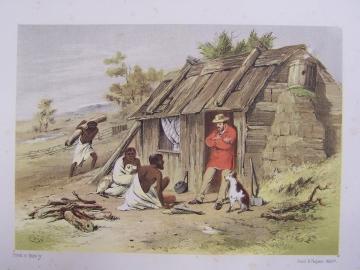 Bushmans Hut by S. T. Gill.