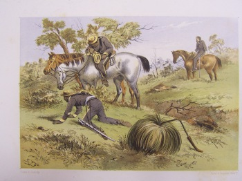 Native Police by S. T. Gill. Gold Museum Collection