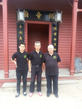 From Left; Oscar Zhang, Charles Zhang and Bill Moy From the CACSB