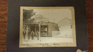 Photo of Louey Sing's Fruit shop. From Coleraine Historical Society