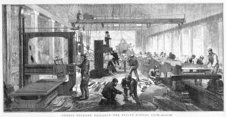 Engine room of Phoenix foundry. State Library of Victoria collection.