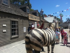 Mrs Crosby asking the crowd if this is a zebra.