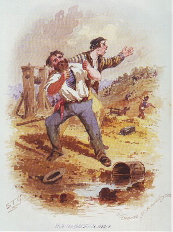Diggers of low degree, S. T. Gill. Gold Museum Collection