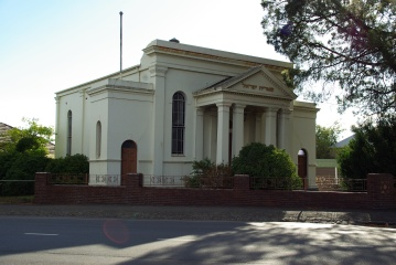 Ballarat Synagogue, cnr Princes & Barkly Streets, Ballarat. Gold Museum Collection.