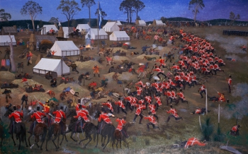 George Browning's painting of the Eureka battle. MADE collection