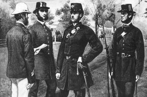 Melbourne Policemen in the 1860s. Herald Weekly Times Library.