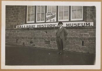Nathan Spielvogel outside the Ballarat Historical Museum. State Library of Victoria collection