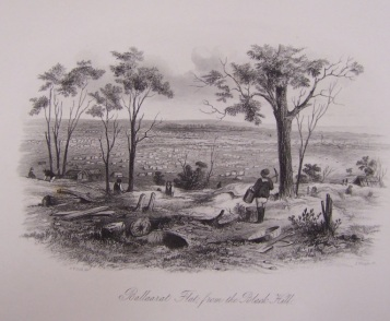 Ballarat Flat from the Black Hill - 1857