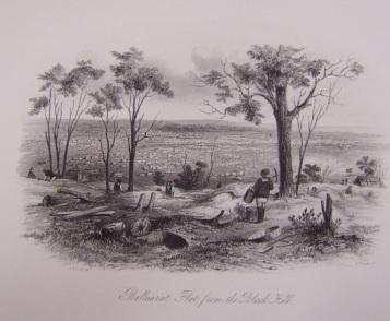 Ballarat Flat from the Black Hill - 1857