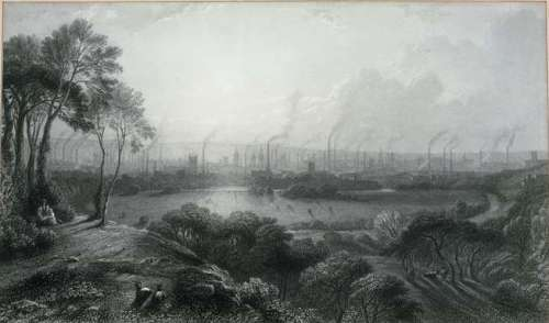 manchester from kersal moor by edward goodall c.1850